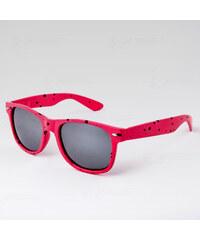 VeyRey Brýle Nerd Kaňka růžové stříbrné skla