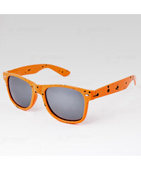 VeyRey Brýle Nerd Kaňka oranžové stříbrné skla