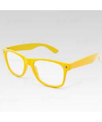 Way VeyRey stylové brýle Nerd žluté.