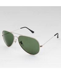 VeyRey Sluneční brýle polarizační Pilotky 5207 stříbrné
