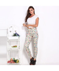 Lesara Pantalon moulant avec motif floral