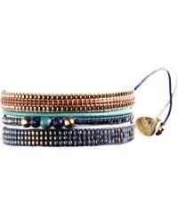 Mishky Bracelet Potpourri Gold Blue