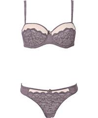 RAINBOW Soutien-gorge balconnet + string (Ens. 2 pces.), Bon. C gris lingerie - bonprix
