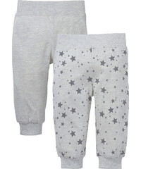 bpc bonprix collection Lot de 2 pantalons bébé en coton bio, T. 56/62-92/98 blanc enfant - bonprix