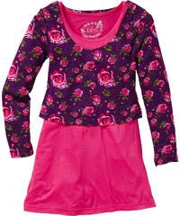 bpc bonprix collection Robe + top double épaisseur (Ens. 2 pces.), T. 116/122-164/170 fuchsia manches longues enfant - bonprix