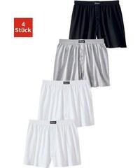 weiter Boxer (4 Stück) klassischer Basic aus angenehm weicher Baumwoll-Qualität Le Jogger bunt 3,4,5,6,8