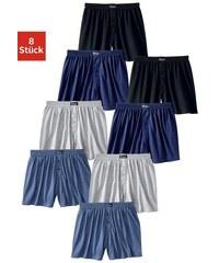 Le Jogger weiter Boxer (8 Stück) klassischer Basic aus angenehm weicher Baumwoll-Qualität bunt 3,4,5,6,7,8,9,10