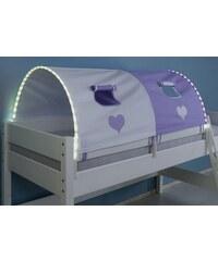 Kinder LED-Tunnel RELITA purple/weiß, Herz