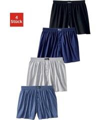 Le Jogger weiter Boxer (4 Stück) klassischer Basic aus angenehm weicher Baumwoll-Qualität bunt 3,4,5,6,7,8,9,10