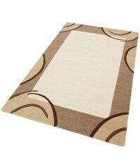 Teppich exklusiv Bellary handgearbeiteter Konturenschnitt handgetuftet reine Schurwolle THEKO EXKLUSIV natur 1 (B/L: 60x90 cm),2 (B/L: 70x140 cm),3 (B/L: 120x180 cm),4 (B/L: 160x230 cm),6 (B/L: 200x29