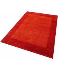 PARWIS Teppich Parwis Indo Gabbeh Daria 54 000 Knoten/m² 4kg/m² handgeknüpft Wolle rot 7 (B/L: 250x300 cm),8 (B/L: 250x350 cm)