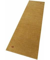 PARWIS Läufer Parwis Gabbeh Supreme handgearbeitet 100 % Schurwolle 4,5 kg/m² Unikat goldfarben 11 (B/L: 80x200 cm),12 (B/L: 80x300 cm)