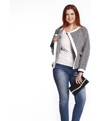 Lesara Bouclé-Cardigan in melierter Optik - XL