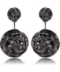 003 Naušnice oboustranné perly - ocelové