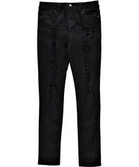 BOOHOO Černé střečové džíny