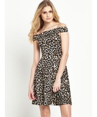 CLOSET Leopardí bardot šaty
