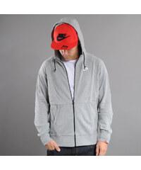 Nike AW77 FT FZ Hoody melange šedá