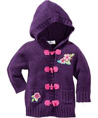 bpc bonprix collection Gilet à capuche violet manches longues enfant - bonprix