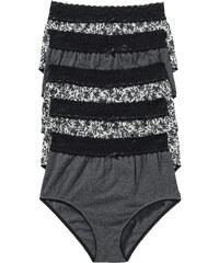 bpc bonprix collection Lot de 5 slips taille haute gris lingerie - bonprix