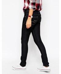 Cross Jeans - Melissa - Jean skinny taille basse foncé délavé jambe 32 - Bleu