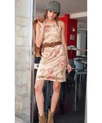 Material Girl Stylové krajkové šaty ANISTON 44 pestrá, podle obrázku