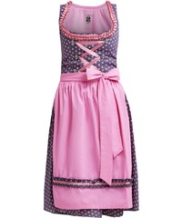 German Princess Dirndl grau rose