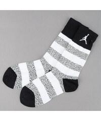 Jordan Elephant Striped Crew bílé / šedé / černé (basketbal)