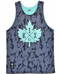 tílko K1X - core reversible mesh jersey black camo/mint (0331)
