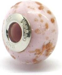 Vinutá perla Dora - benátské sklo - Murano - ram8