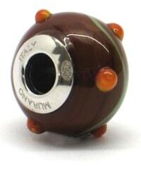 Vinutá perla Dora - benátské sklo - Murano - rzp8