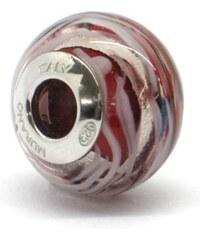 Vinutá perla Dora - benátské sklo - Murano - rmir6