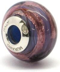 Vinutá perla Dora - benátské sklo - Murano - rmir1