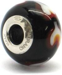 Vinutá perla Dora - benátské sklo - Murano - rhd11
