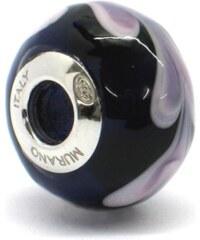 Vinutá perla Dora - benátské sklo - Murano - rhd4