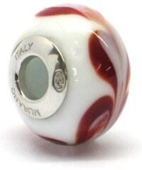 Vinutá perla Dora - benátské sklo - Murano - rhd3