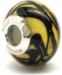 Vinutá perla Dora - benátské sklo - Murano - rtg1