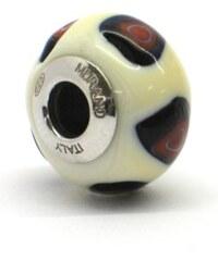 Vinutá perla Dora - benátské sklo - Murano - av1