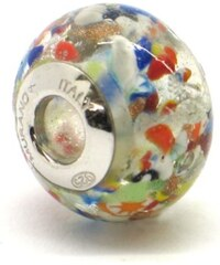 Vinutá perla Dora - benátské sklo - Murano - fam