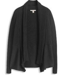 Esprit Žebrový propínací svetr z jemné pleteniny