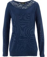 bpc selection Pullover in blau (Rundhals) für Damen von bonprix