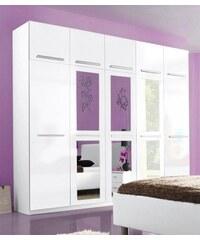 Baur Kleiderschrank 2- bis 5-türig weiß/weiß Hochglanz