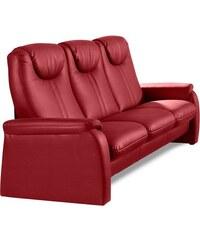 & More 3-Sitzer wahlweise mit Bettfunktion SIT&MORE 100 (=schwarz),115 (=mokka),117 (=altweiß),120 (=rot)