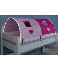 Kinder RELITA LED-Tunnel pink/rosa, Herz