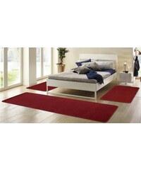 HANSE HOME Bettumrandung Shashi einfarbig Kurzflor getuftet 3-teilig rot 14 (3tlg. Bettumrandung)