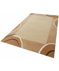 THEKO EXKLUSIV Teppich exklusiv Bellary handgearbeiteter Konturenschnitt handgetuftet reine Schurwolle braun 1 (B/L: 60x90 cm),2 (B/L: 70x140 cm),3 (B/L: 120x180 cm),4 (B/L: 160x230 cm),6 (B/L: 200x29