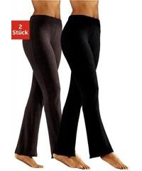Vivance Collection Homewearhosen (2 Stück) aus softer elastischer Qualität braun 32/34,36/38,40/42,44/46,48/50,52/54,56/58