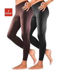 Basic Leggins (2 Stück) in körpernaher Passform Vivance Collection braun 32/34,36/38,40/42,44/46,48/50,52/54,56/58