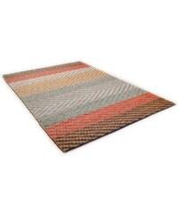 Tom Tailor Teppich Pastel Stripe handgearbeitet Wolle bunt 2 (B/L: 65x135 cm),3 (B/L: 140x200 cm),4 (B/L: 160x230 cm)