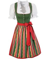HANNAH Damen Dirndl kurz mit Bluse Hannah (3tlg.) grün 34,36,38,40,42,44,46,48