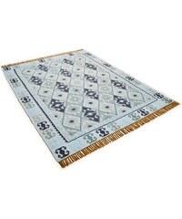 Teppich Kelim Colors II handgearbeitet Wolle Tom Tailor grün 2 (B/L: 65x135 cm),3 (B/L: 140x200 cm),4 (B/L: 160x230 cm)